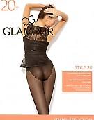 Колготки с ажурными трусиками-бикини Glamour Style 20