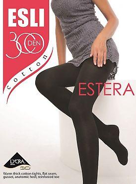 Колготки больших размеров с хлопком Esli Estera 300 XL