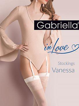 Чулки под пояс Gabriella 476 Vanessa