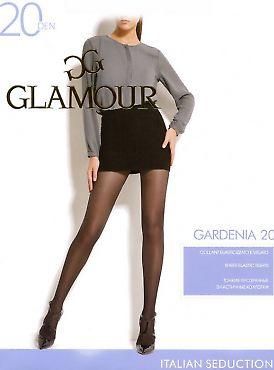 Тонкие прозрачные эластичные колготки Glamour Gardenia 20