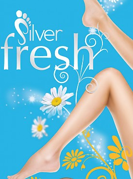 Pretty Polly Silver fresh knee highs 3PP GM95