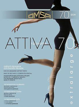 Корректирующие колготки большого размера Omsa Attiva 70 XXL