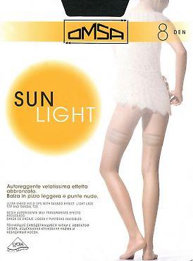 Тонкие чулки Omsa Sun Light 8 Auto