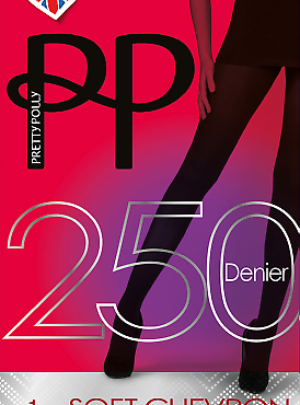 Pretty Polly 250 den Soft Chevron Opaques AVR4