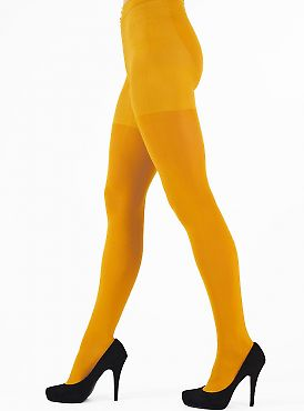 Pretty Polly 60D Colour Opaque Tights Yellow