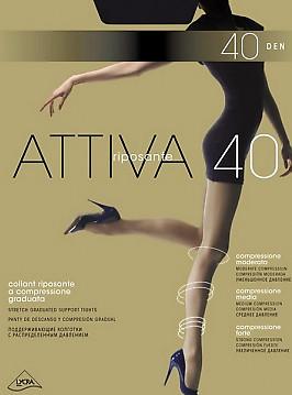 Корректирующие колготки с распределенным давлением Omsa Attiva 40