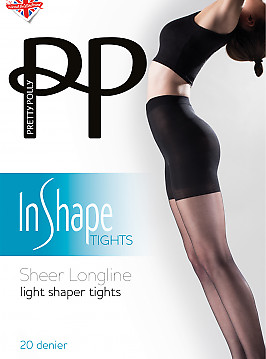 Pretty Polly Sheer Longline Light Shaper Tights AVS8