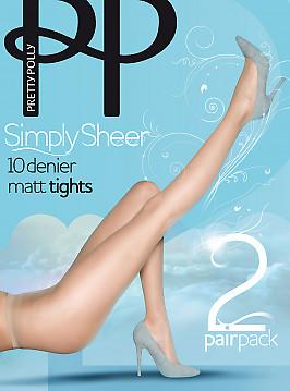 Pretty Polly Simple Sheer 10 den tights 2PP EPA1