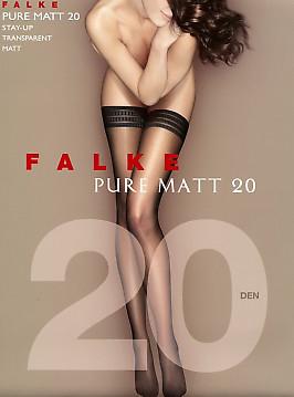 Матовые чулки Falke Pure Matt 20 Stay-Up