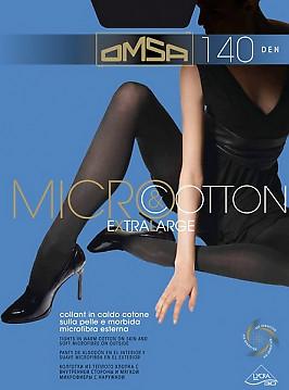 Плотные колготки большого размера Omsa Micro & Cotton 140 XL