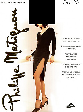 Матовые шелковистые колготки Philippe Matignon Oro 20