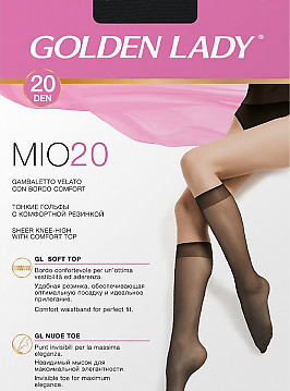 Golden Lady Mio 20 Gambaletto 2 Paia