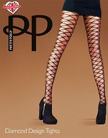 Pretty Polly Diamond desigh tights AUX3