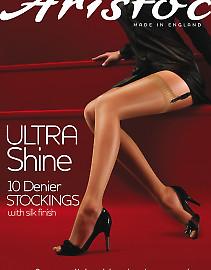 Aristoc Ultra Shine 10 Den Stockings AAE5