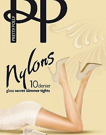 Pretty Polly Nylons 10 Den Gloss Secret Slimmer APA9