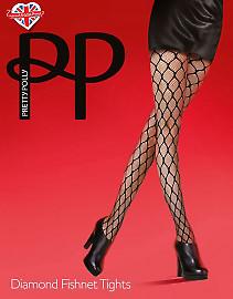 Pretty Polly Diamond fishnet tights AUU3