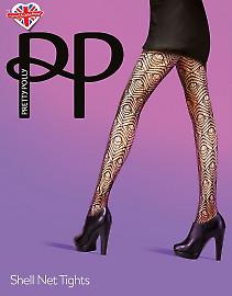 Pretty Polly Shell net tights AUU4
