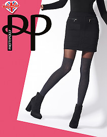 Pretty Polly Marl OTK Cable Sock Tights AVN5