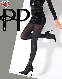 Pretty Polly Silver Print Tights AVN8