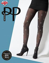 Pretty Polly Star Print Opaque Tights AWA7
