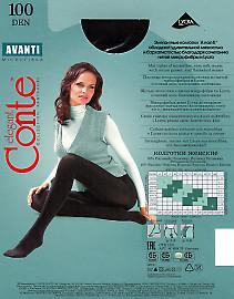 Плотные колготки Conte Avanti 100