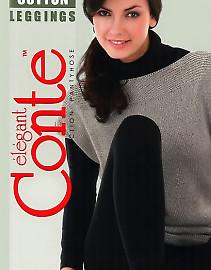 Теплые леггинсы (лосины) большого размера Conte Cotton 250 Leggings XL