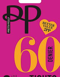 Pretty Polly 60 den opaque 2PP ERM5