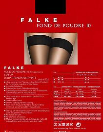 Ультратонкие чулки с гладкой резинкой Falke Fond De Poudre 10 Stay-up