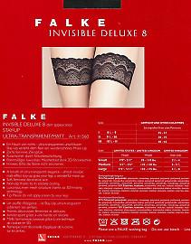 Ультратонкие чулки с кружевной резинкой Falke Invisible Deluxe 8 Stay-Up