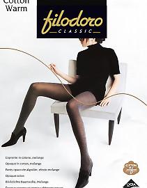Колготки с эффектом меланж Filodoro Classic Cotton Warm