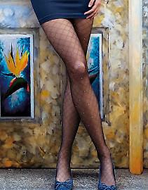 Тонкие фантазийные колготки с тканым узором в виде сетки Gatta Fancy 09