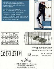 Теплые леггинсы (лосины) Glamour Thermo Fleece 200 Leggins