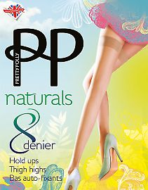 Pretty Polly Naturals 8 Den Hold Ups ASY2