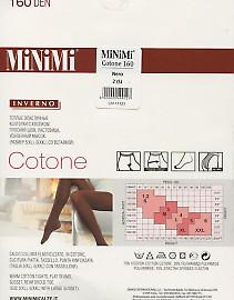 Теплые колготки большого размера MiNiMi Cotone 160 XL