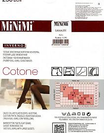 Теплые колготки большого размера MiNiMi Cotone 250 XL