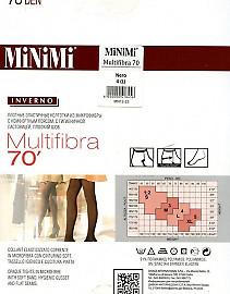 Плотные колготки MiNiMi Multifibra 70