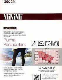 Теплые леггинсы (лосины) большого размера MiNiMi Piuma Pantacollant XL