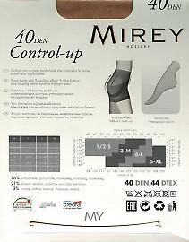 Колготки с моделирующими шортиками и эффектом 'Push-Up' Mirey Control Up 40