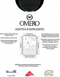 Ультратонкие колготки с открытыми пальцами Omero Aestiva 8 Infradito