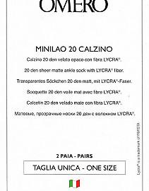 Omero Minilao 20 Calzino