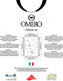 Элегантные полупрозрачные колготки Omero Neide 40