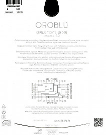 Плотные колготки из мягкой микрофибры Oroblu Intense 50