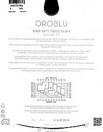 Прозрачные колготки с плоскими швами Oroblu Sensuel 20