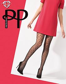 Pretty Polly Diamond Heart Tights AVU5