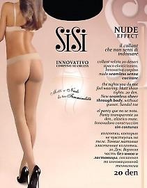 Тонкие матовые бесшовные колготки SiSi Nude Effect