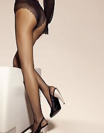 Эластичные прозрачные колготки с ажурными трусиками-бикини SiSi Style 40