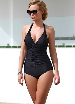 Слитный купальник K.8125 - цвет Черный