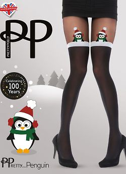 Pretty Polly Penguin Mock Hold Ups AWC8