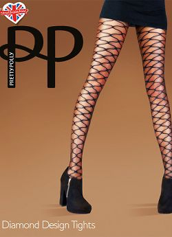 Pretty Polly Diamond desigh tights AUX3