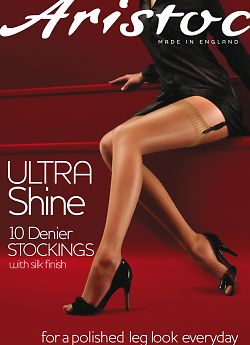 Aristoc Ultra Shine 10 Den Stockings AAE5